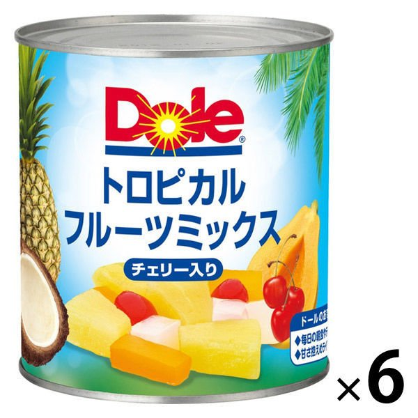 ドール トロピカルフルーツミックス チェリー入り フルーツ缶詰 822g 6缶