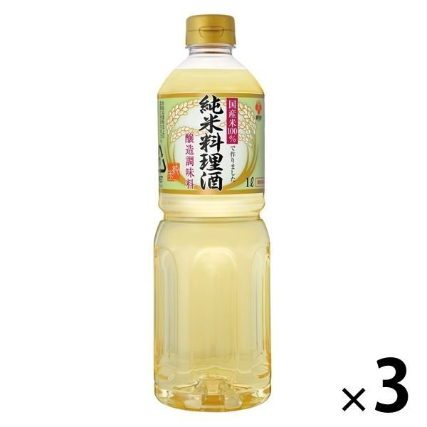 盛田 国産米100%純米料理酒 1L 3本