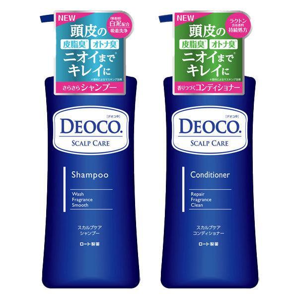 デオコ(DEOCO)スカルプケアシャンプー+コンディショナーポンプセット各350mLロート製薬