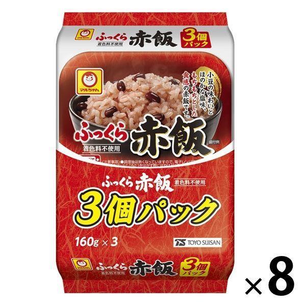 パックごはん 24食 マルちゃん ふっくら赤飯160g(3食入)× 8個 東洋水産 米加工品 包装米飯