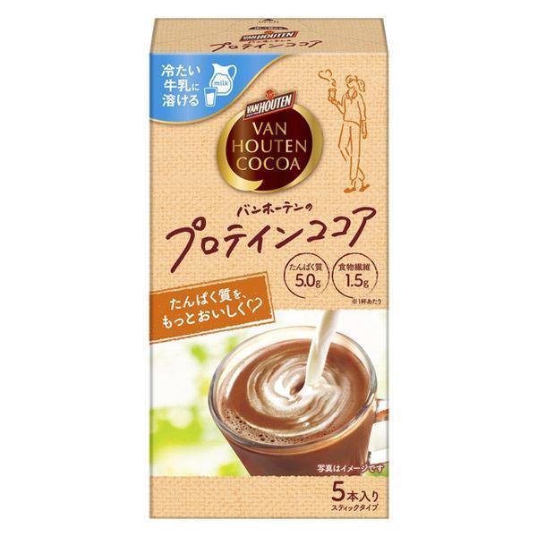 片岡物産 バンホーテン バンホーテンのプロテイン ココア 1箱(5本入)