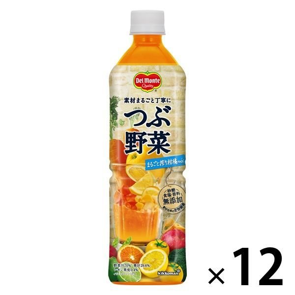 キッコーマン飲料 デルモンテ つぶ野菜まるごと搾り柑橘mix 900g 1箱(12本入)【野菜ジュース】
