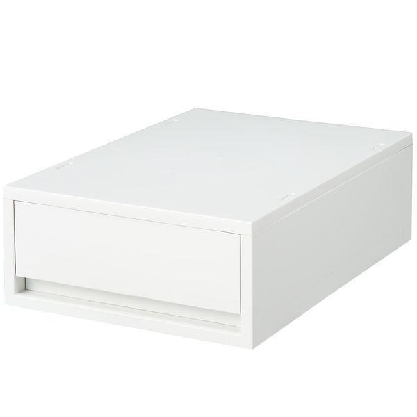 無印良品 ポリプロピレンケース・引出式・浅型・ホワイトグレー 1個 15253579 良品計画
