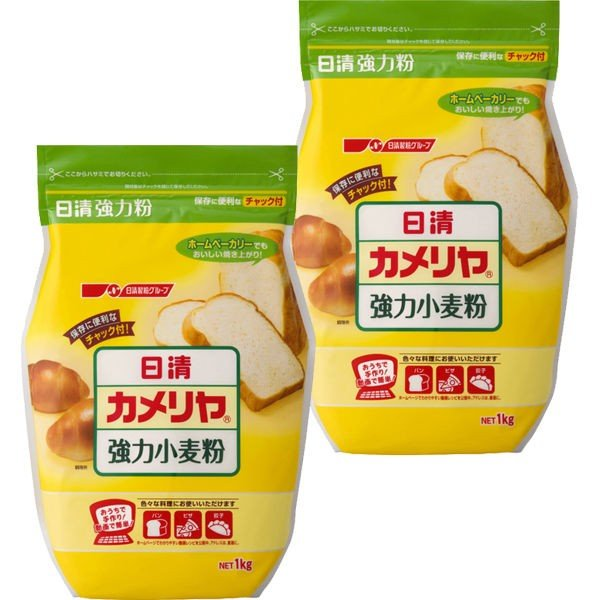 日清フーズ 日清 カメリヤ チャック付 (1kg) ×2個
