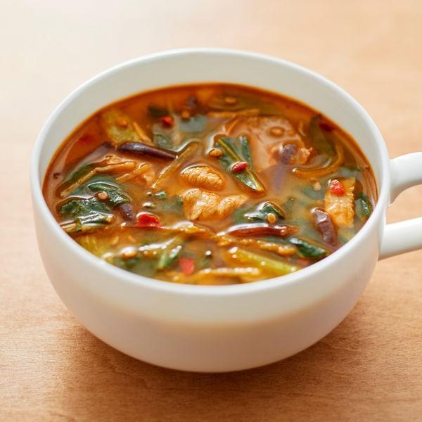 無印良品食べるスープ豚肉とチンゲン菜の胡麻味噌担々スープ1袋(4食分)良品計画