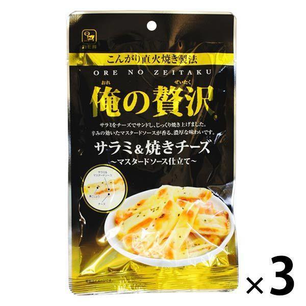 俺の贅沢 サラミ&焼きチーズ 3袋 カモ井食品 おつまみ 珍味