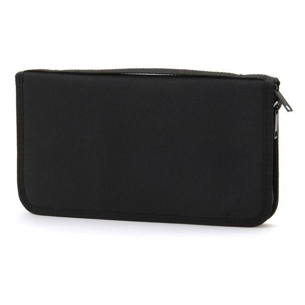 無印良品 ポリエステルパスポートケース・クリアポケット付黒・約23.5×13×2.5cm 38743668 1個 良品計画