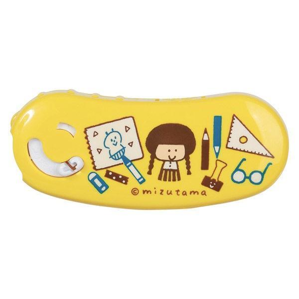 プラス テープのり ノリノポッド ドットタイプ 限定mizutama 本体 10m 文具 イエロー 黄色 TG-1111
