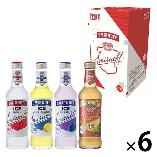 チューハイカクテル飲み比べ(ロハコ )スミノフアイス4種アソート1ケース(24本入)275mlボトルカクテルウォッカ