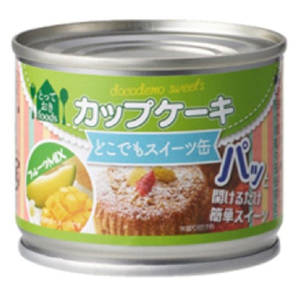 トーヨーフーズ どこでもスイーツ缶 カップケーキ フルーツミックス 1缶