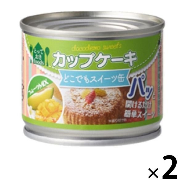 トーヨーフーズ どこでもスイーツ缶 カップケーキ フルーツミックス 2缶