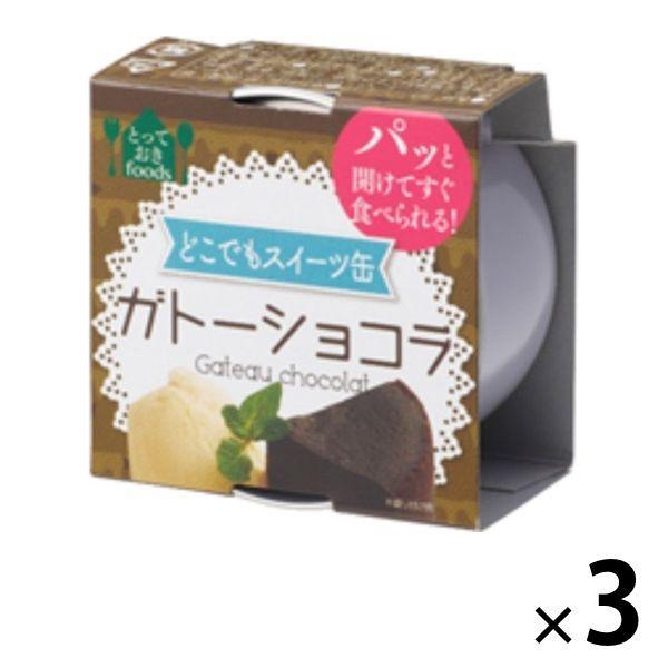 トーヨーフーズ どこでもスイーツ缶 ガトーショコラ ミニ 3缶