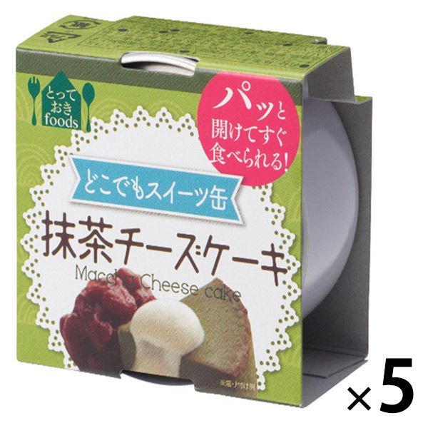 トーヨーフーズ どこでもスイーツ缶 抹茶のチーズケーキ ミニ 5缶