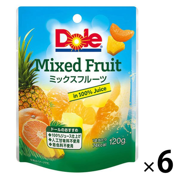 ドール フルーツパウチ ミックスフルーツ 120g 6個