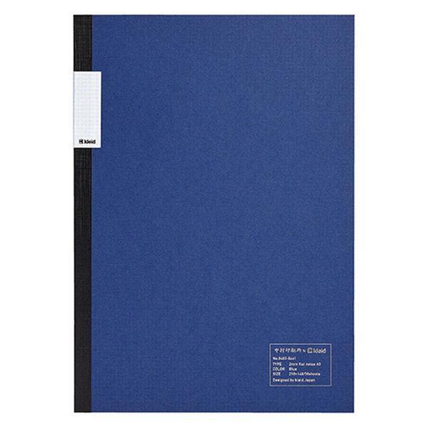 ノート A5 2ミリ方眼 50枚 ブルー 青 1冊 8403 中村印刷所×kleid