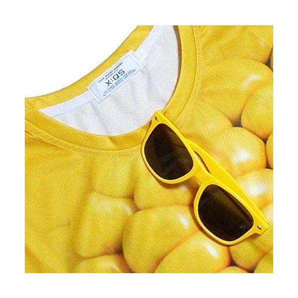 Tシャツ レディース メンズ おしゃれ 半袖 立体とうもろこし柄 カットソー 3DTシャツ おもしろ コーンTシャツ トップス|y-mty|04