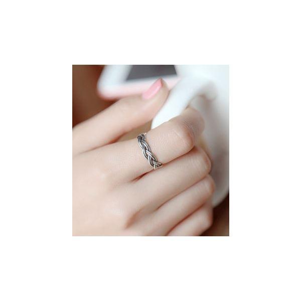 指輪 メンズ レディース 兼用 アクセサリー 編込み S925 リング ogab008