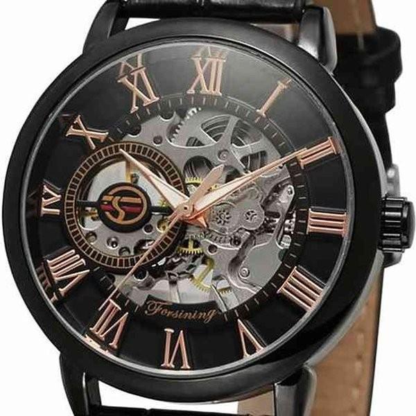 腕時計 メンズ 40代 おしゃれ ビジネス 50代 メンズウォッチ ブラック フルスケルトン 高級感抜群 手巻き フェイス シルバー インデックス rkab045|y-mty|08