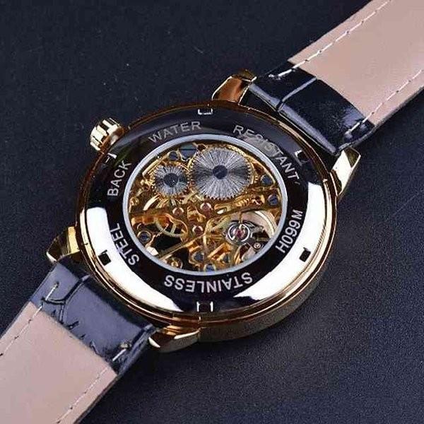 腕時計 メンズ 40代 おしゃれ ビジネス 50代 メンズウォッチ ブラック フルスケルトン 高級感抜群 手巻き フェイス シルバー インデックス rkab045|y-mty|06