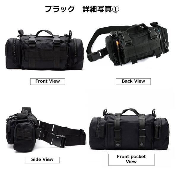 迷彩バッグ メンズ スポーツバッグ ミリタリーバッグ カモフラ 5way 多機能 ウエストバック ボディバッグ 防水 軽量 全11種類|y-mty|03