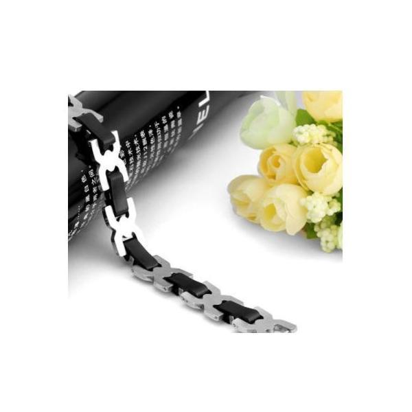 ブレスレット メンズ レディース ユニセックス クロス & 編み込み風 ステンレス シルバーアクセサリー好きの方にオススメ zbga038|y-mty|03