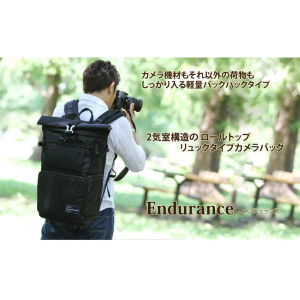 Endurance(エンデュランス) カメラバッグ 2気室構造 ロールトップ リュックタイプ 一眼レフ用|y-op|02