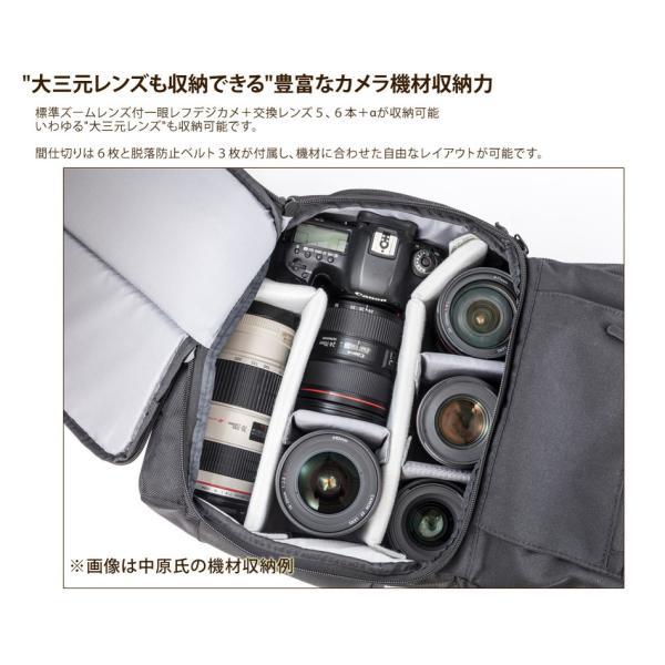 Endurance(エンデュランス) カメラバッグ 2気室構造 ロールトップ リュックタイプ 一眼レフ用|y-op|04