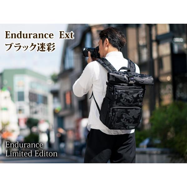 ブラック迷彩柄 Endurance カメラバッグ Ext(エクステンド)  コンパクト&多機能 リュックタイプ|y-op|02