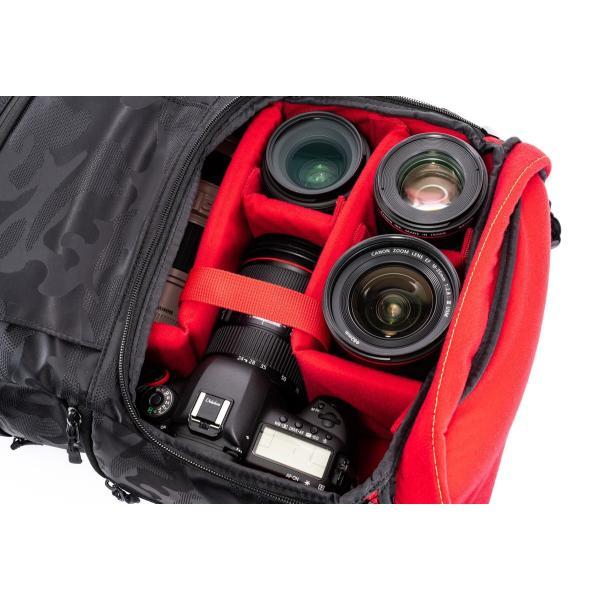 ブラック迷彩柄 Endurance カメラバッグ Ext(エクステンド)  コンパクト&多機能 リュックタイプ|y-op|11