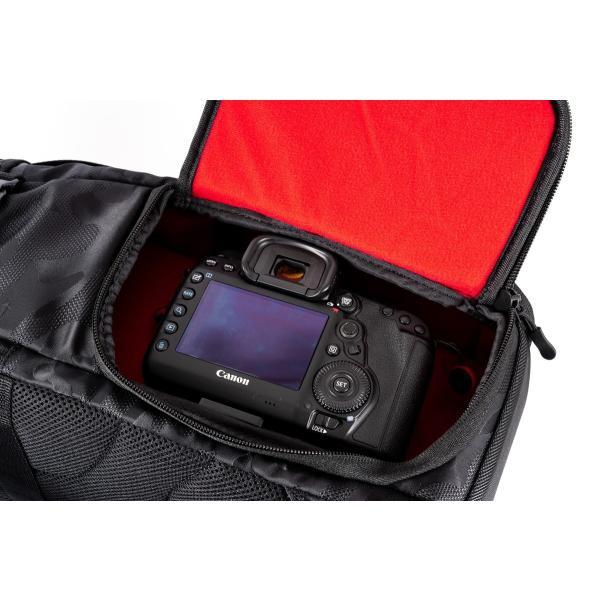 ブラック迷彩柄 Endurance カメラバッグ Ext(エクステンド)  コンパクト&多機能 リュックタイプ|y-op|13