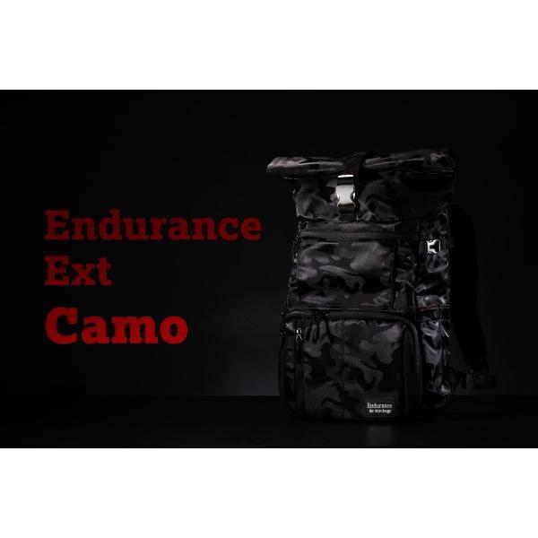 ブラック迷彩柄 Endurance カメラバッグ Ext(エクステンド)  コンパクト&多機能 リュックタイプ|y-op|06