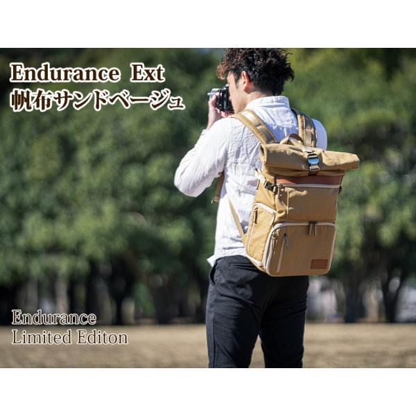 カメラバッグ 帆布 リュック 一眼レフ 大容量 おしゃれ ミラーレス Endurance Ext サンドベージュ カメラリュック 女子|y-op|02