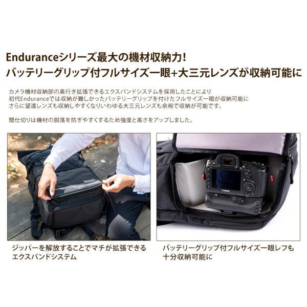 カメラバッグ 一眼レフ リュック 大容量 Endurance(エンデュランス)  HG ブラック迷彩 y-op 12