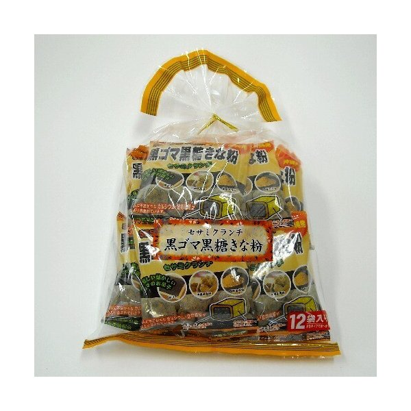黒ゴマ黒糖きな粉 巾着12袋入 沖縄パイオニアフーズ