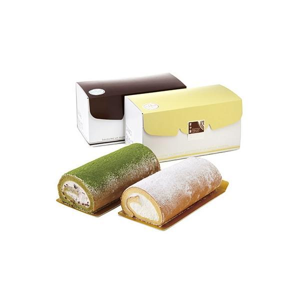 下仁田町ふるさと納税和菓子屋さんのお米の純生ロールケーキプレーン・抹茶各1本(約18cm)計2本化粧箱入り