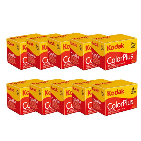 カラーネガフィルム カラープラス ColorPlus 200 36EX 36枚撮 10本入 英文パッケージ ネガフィルム フィルムカメラ レトロ コダック Kodak