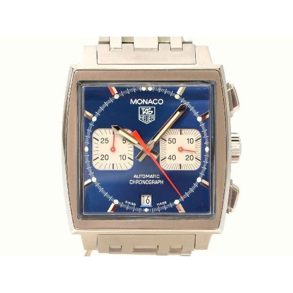 new styles 85b92 b63f0 本物 TAG HEUER タグホイヤー CW2113-0 モナコ 腕時計 ブルー ...
