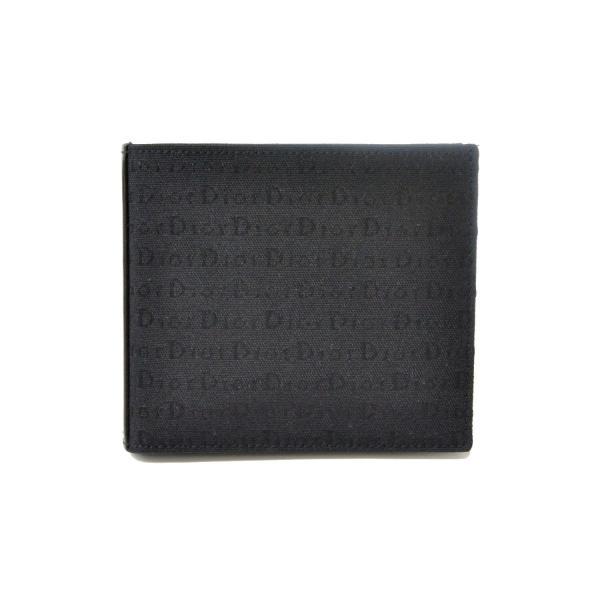 490963e3cd6b 本物 Dior Homme ディオール オム ロゴ 二つ折 折財布 コンパクトウォレット キャンバス 布 ブラック 黒