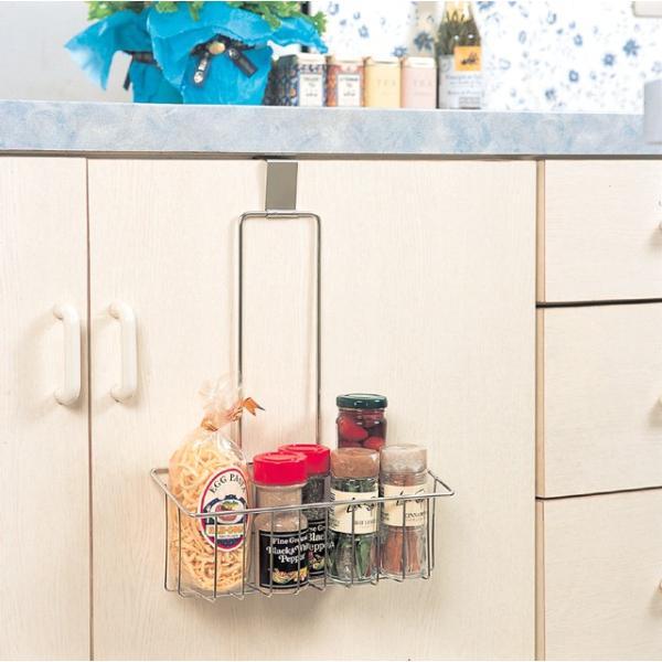 フリー バスケット 1段 スマートハング 18-8ステンレス 日本製 キッチン シンク下 収納 シンク扉に引っ掛けるだけ|y-simnet
