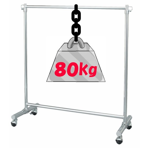 ハンガーラック パイプハンガー 丈夫 頑丈 業務用 洋服 コート ハンガー ラック 耐荷重80Kg|y-simnet|02