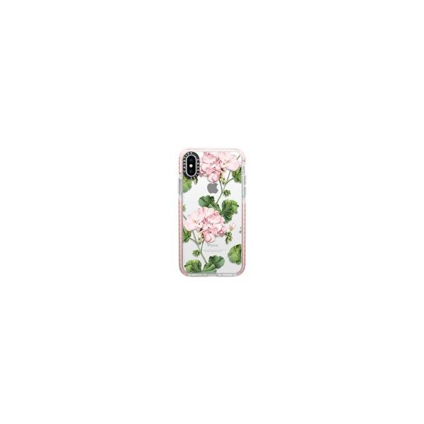 Casetify CTF-4737368-7011802 Impact Case GERANIUM No.4737368/Pink Bumper 〔iPhone XS/X用〕の画像