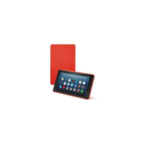 Amazon アマゾン Amazon純正 Fire HD 8 タブレット (第7世代、第8世代) 用カバー パンチレッド B01MSPQ49S