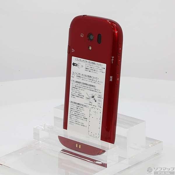 らくらくスマートフォン 3 F-06F 8GB レッド docomoの画像