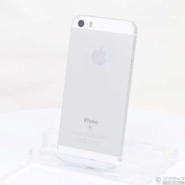 iPhone SE 32GB シルバー (MP832J/A) auの画像