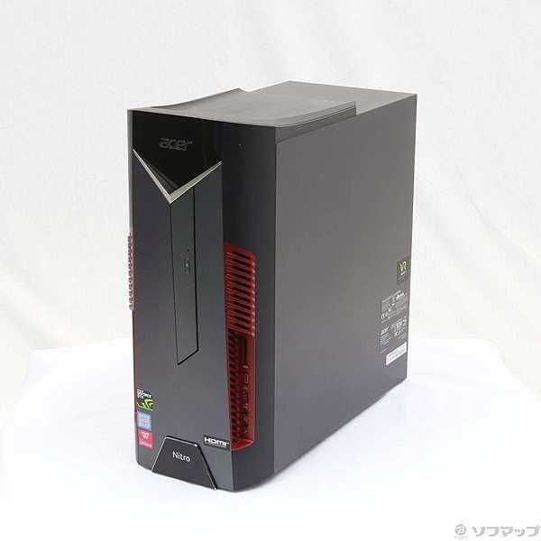 日本エイサー ゲーミングデスクトップパソコン N50-600-N78G/G6 (Nitro 50) ブラックの画像