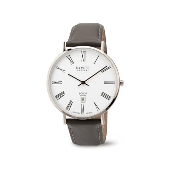 ボッチアチタニューム ボッチアチタニュウム チタン製メンズ皮バンドデイト付腕時計 3589-03 [振込不可]