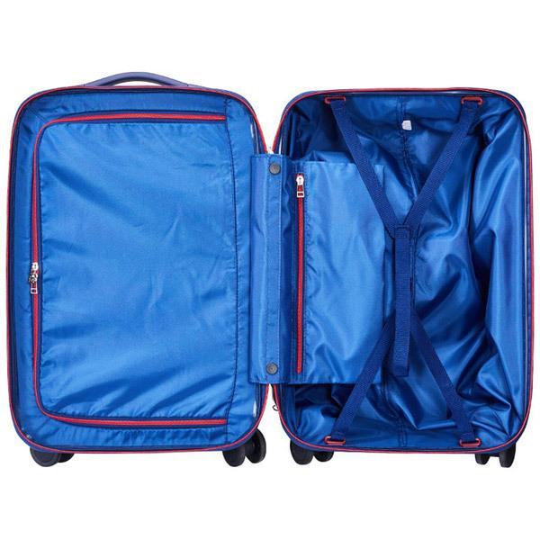 サンコー鞄 静音大型双輪キャスター搭載 ハードスーツケース ACTIVE CUBE 03 (32L)ネイビー(機内持ち込みサイズ)