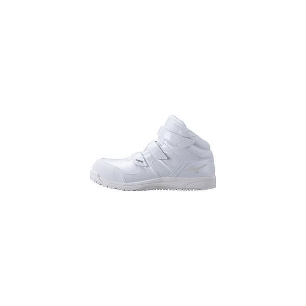 25.0cm 靴幅:3E メンズ 安全靴 MIZUNO WORKING オールマイティSF21M(ホワイト)F1GA190201【JSAA・普通作業用(A種)認定品 耐滑 プロテクティブスニーカー】  …
