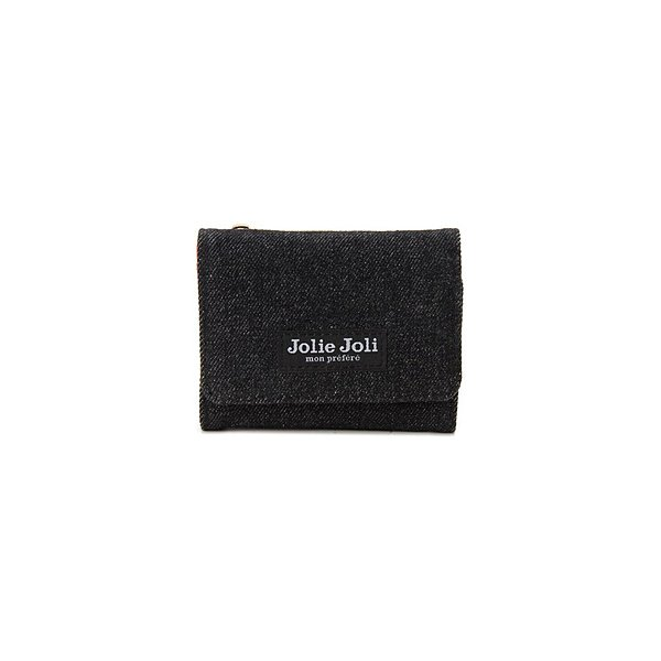 ジョリージョリコンパクト三つ折りL字財布JJ-2017903-003ブラック×レッド 並行輸入品