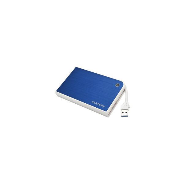"Century MOBILE BOX USB3.0接続 SATA6G 2.5""HDD/SSDケース ブルー&ホワイト (CMB25U3BL6G)"